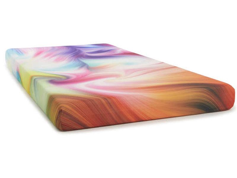 """Twin 5"""" Tie Dyed Memory Foam Mattress-In-A-Box Corner"""