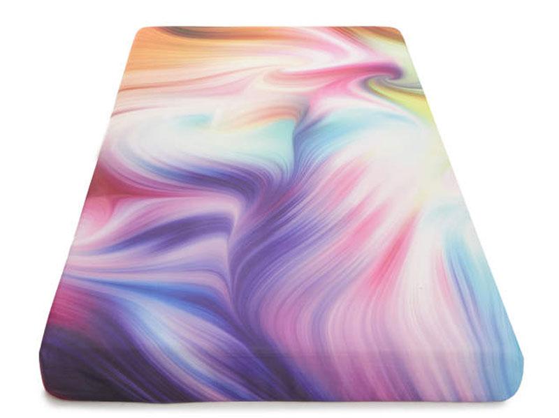 """Twin 5"""" Tie Dyed Memory Foam Mattress-In-A-Box Top"""